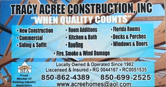 Tracy Acree Construction Inc Chamberofcommerce Com