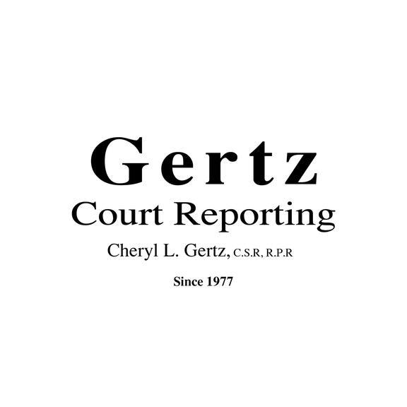Cheryl Gertz Court Reporting CSR RPR