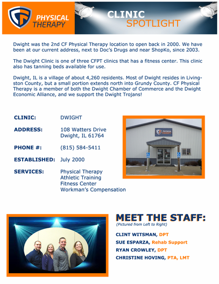 Ati Physical Therapy - 108 Watters Dr, Dwight, IL