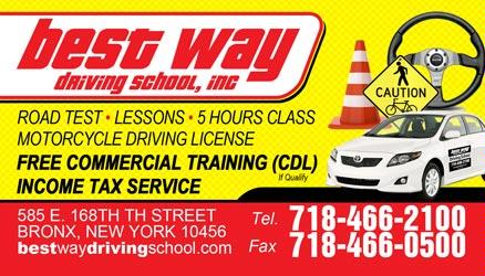 Best Way Driving School 1208 Franklin Ave Ste 1a Bronx Ny