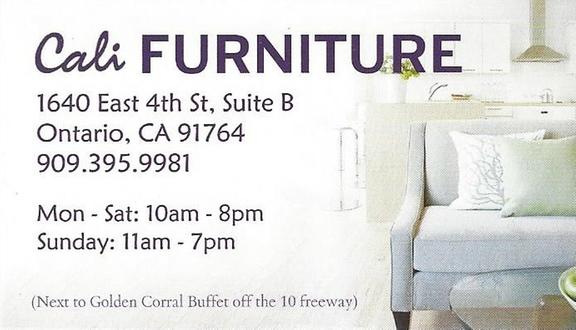 Cali Furniture 1640 E 4th St Ste B