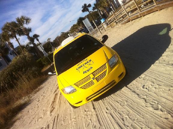 Yellow Checker Cab Taxi