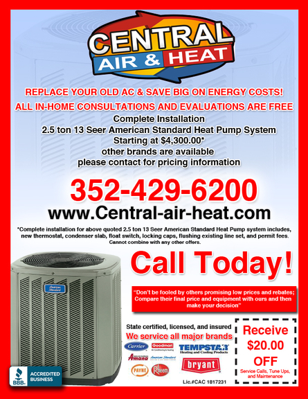 central air u0026 heat inc
