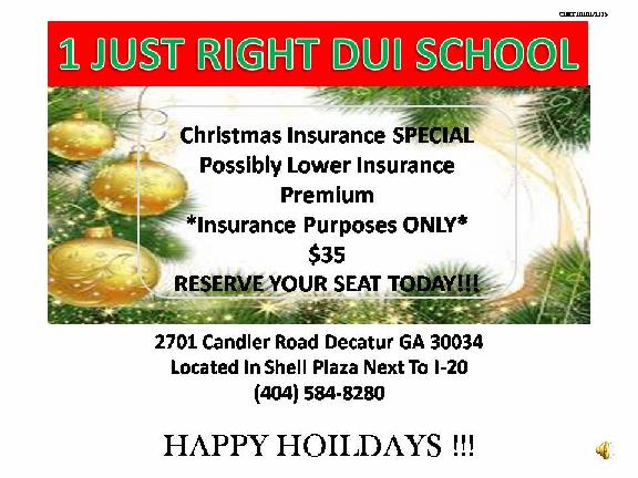 1 Just Right Dui School 2701 Candler Rd Ste H Decatur Ga