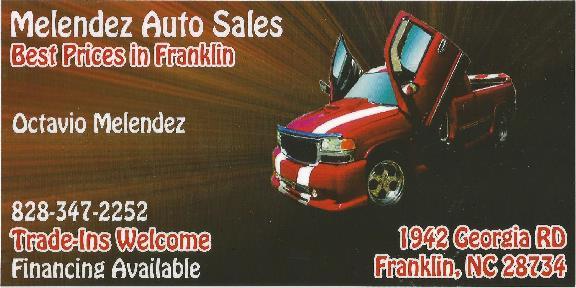 Melendez Auto Sales >> Melendez Auto Sales 1942 Georgia Rd Franklin Nc