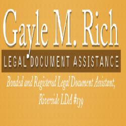 Gayle M Rich Legal Document Assistant Brockton Ave Ste - Legal document assistant
