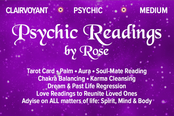 Psychic Readings By Rose - Nearly 40 years Professional Experience